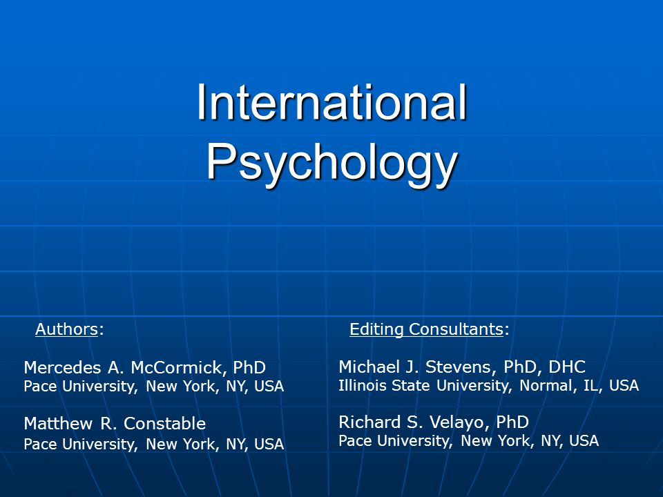 International Psychology
