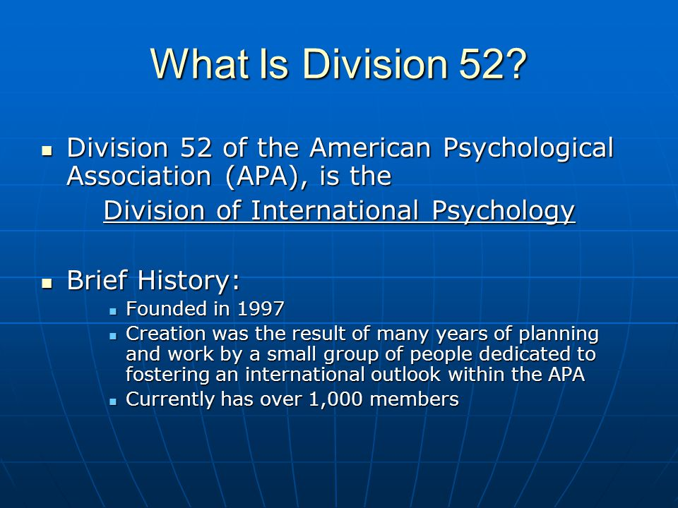 Division of International Psychology