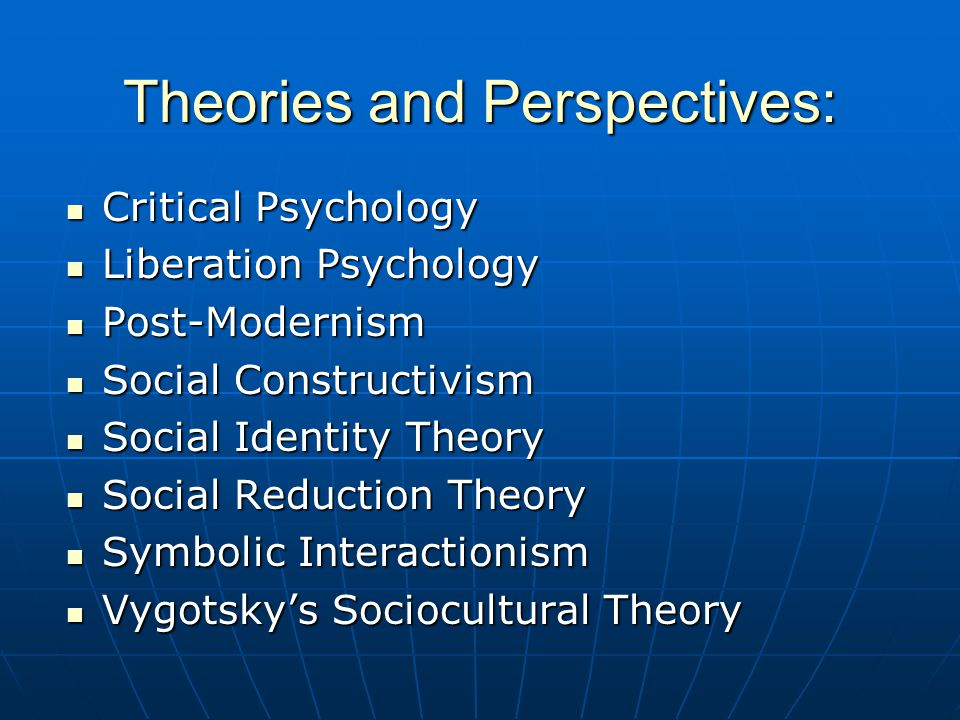 Theories and Perspectives: