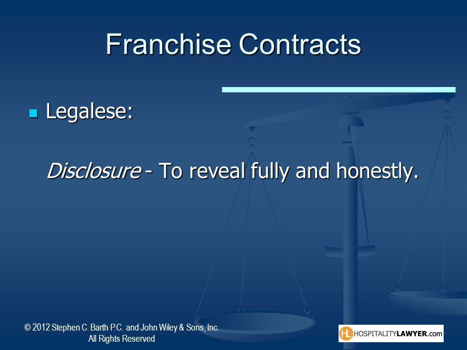 Franchise Contracts Legalese: