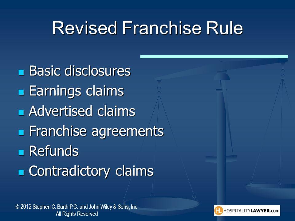Revised Franchise Rule