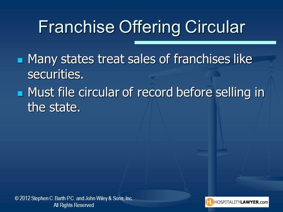 Franchise Offering Circular