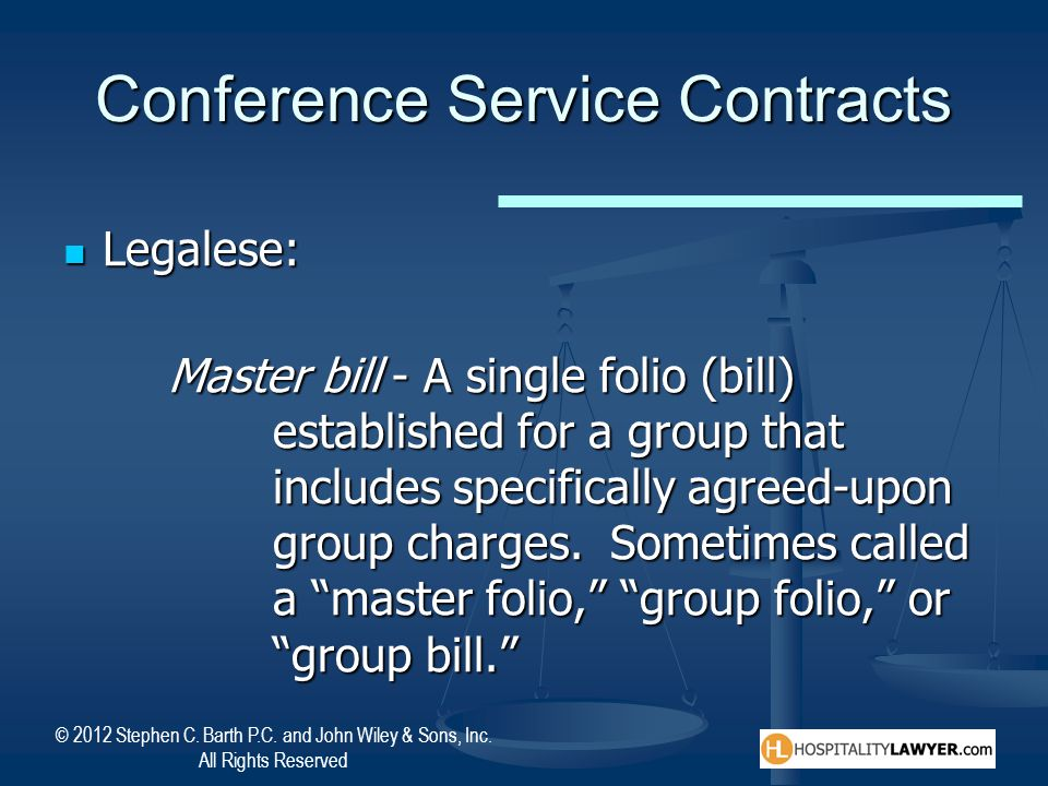 Conference Service Contracts
