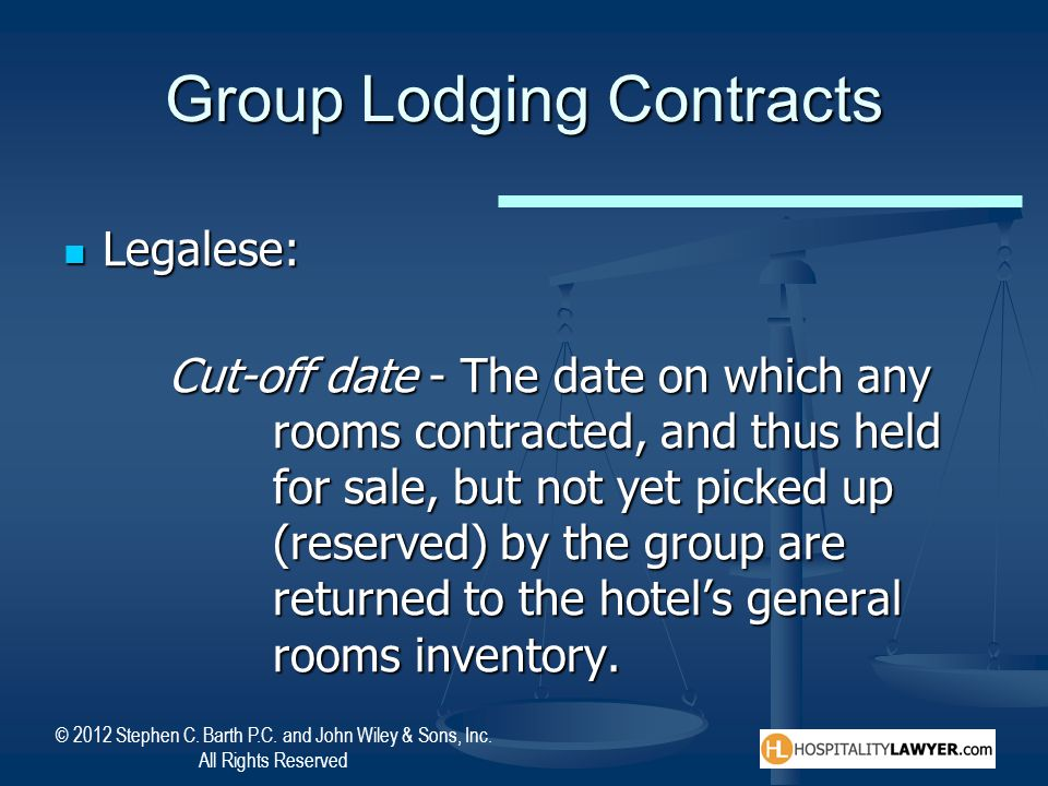 Group Lodging Contracts