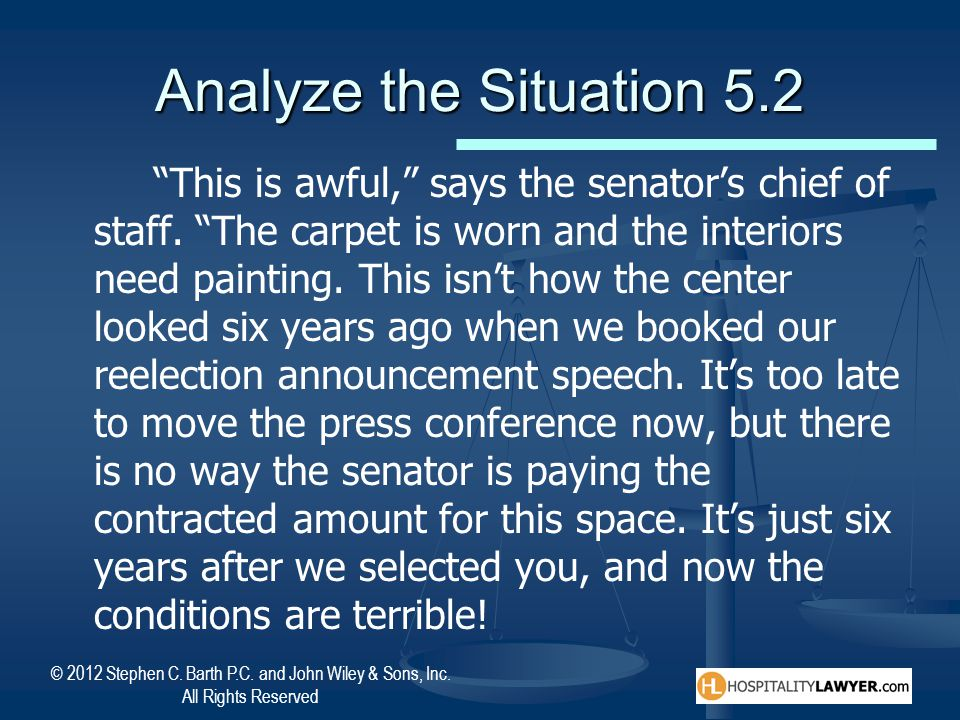 Analyze the Situation 5.2
