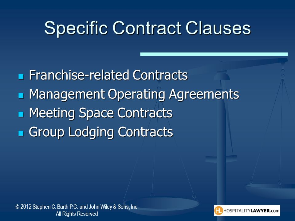Specific Contract Clauses