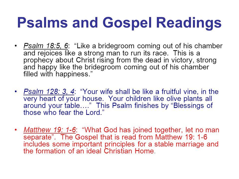 Psalms and Gospel Readings