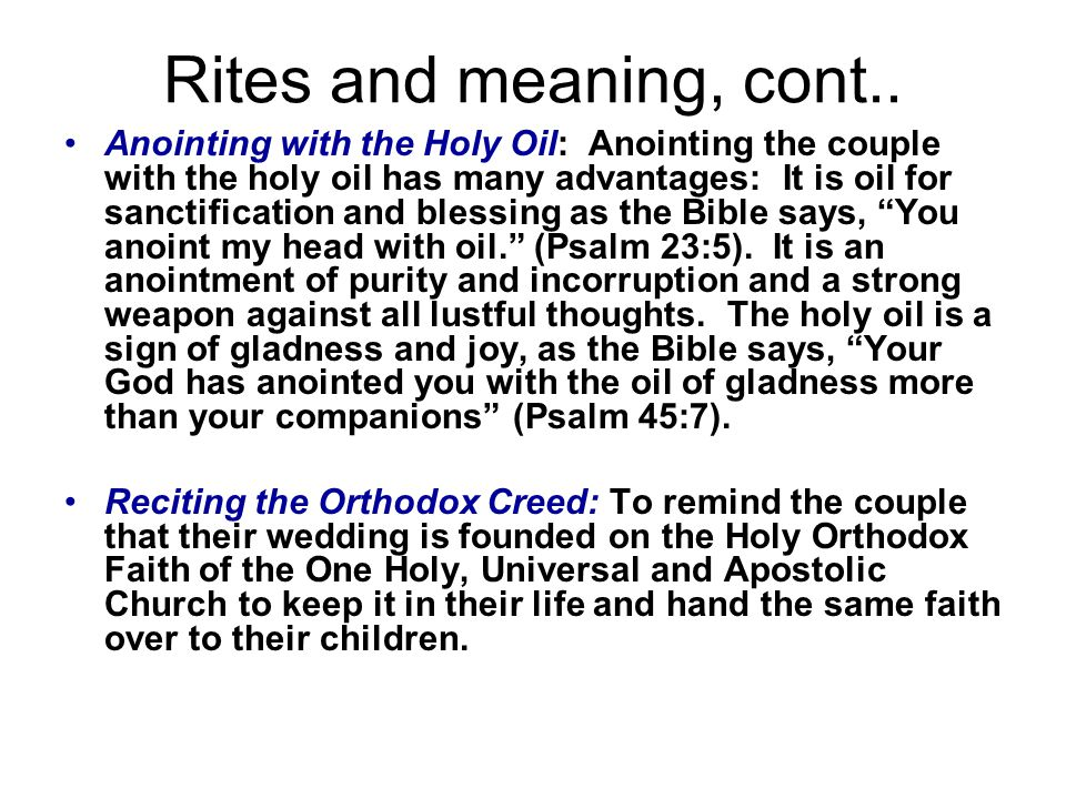 Rites and meaning, cont..