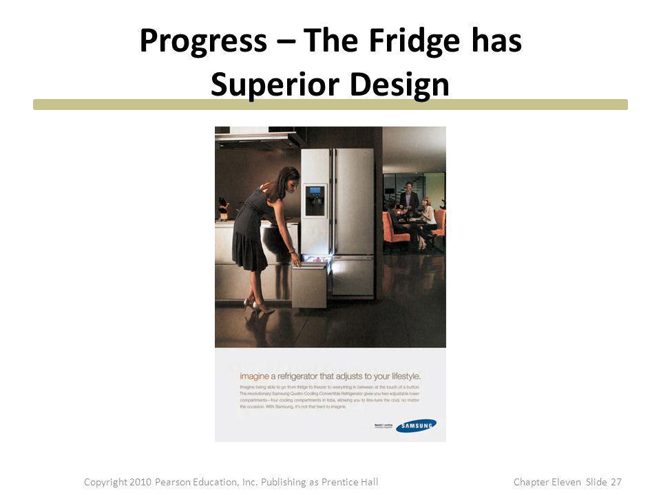 Progress – The Fridge has Superior Design