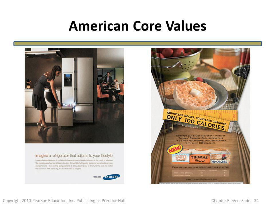 American Core Values What American Core Values do these ads represent