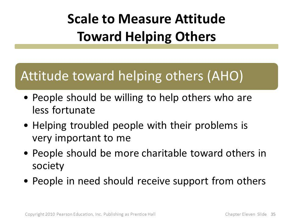 Scale to Measure Attitude Toward Helping Others