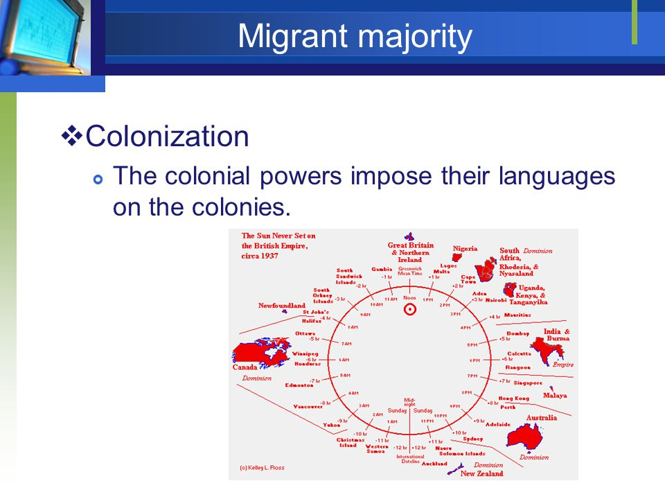 Migrant majority Colonization