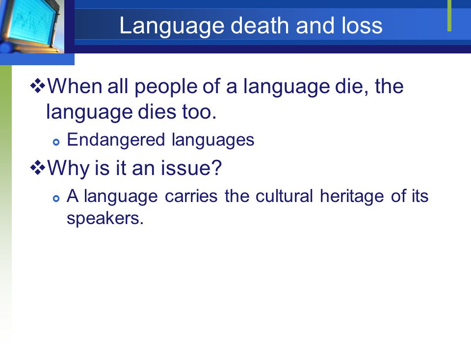 Language death and loss