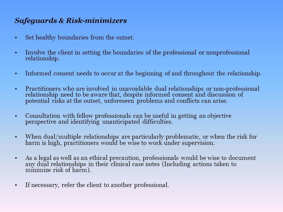 Safeguards & Risk-minimizers