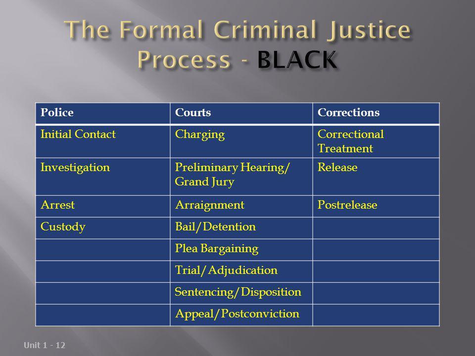 The Formal Criminal Justice Process - BLACK