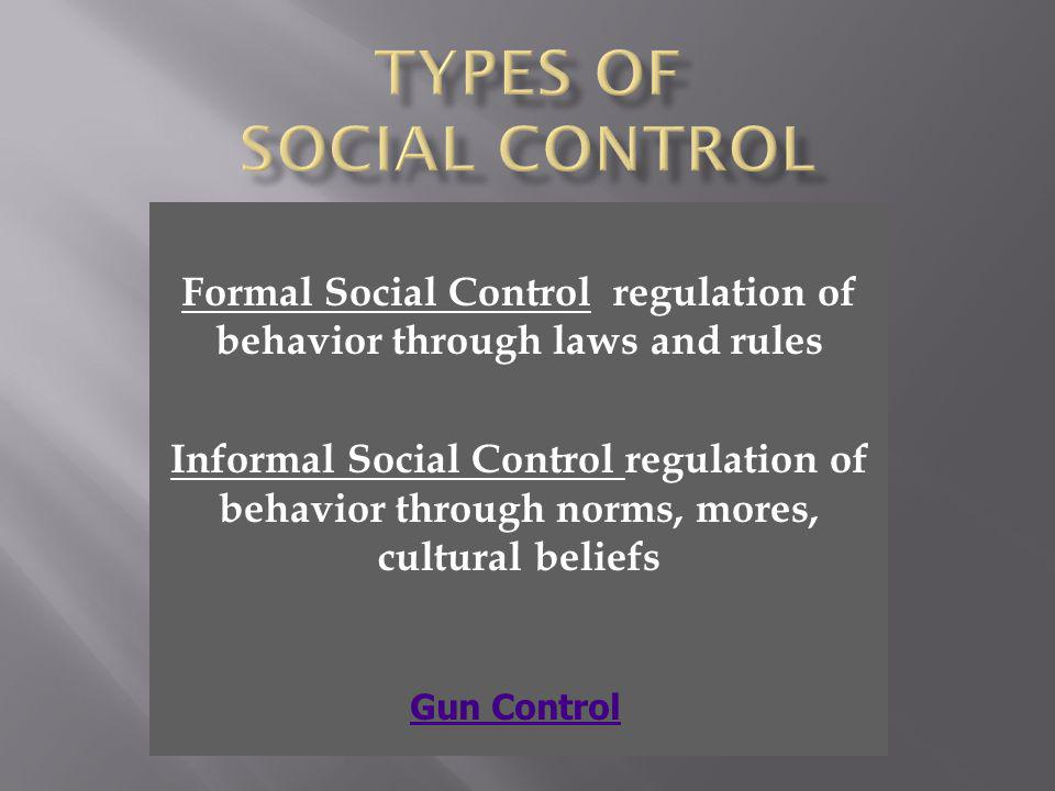 Types of Social Control