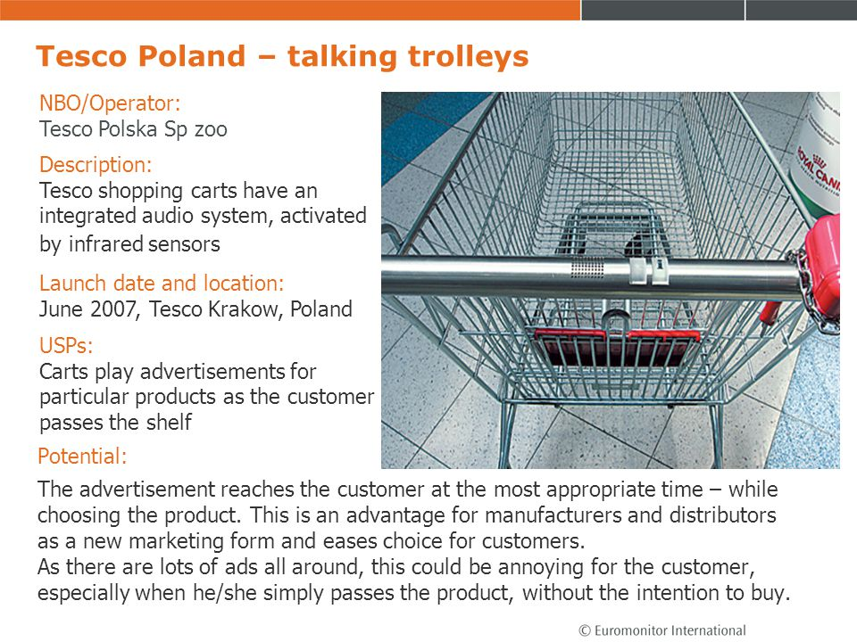 Tesco Poland – talking trolleys