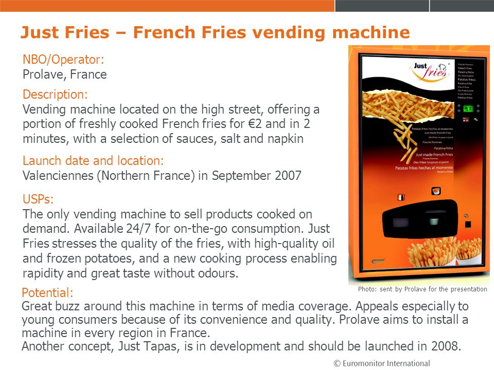 Just Fries – French Fries vending machine