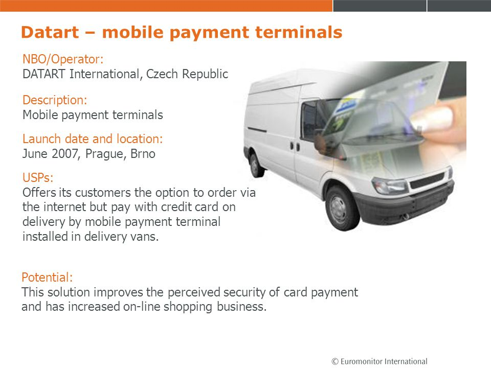 Datart – mobile payment terminals