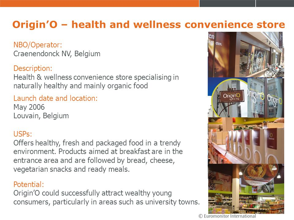 Origin'O – health and wellness convenience store