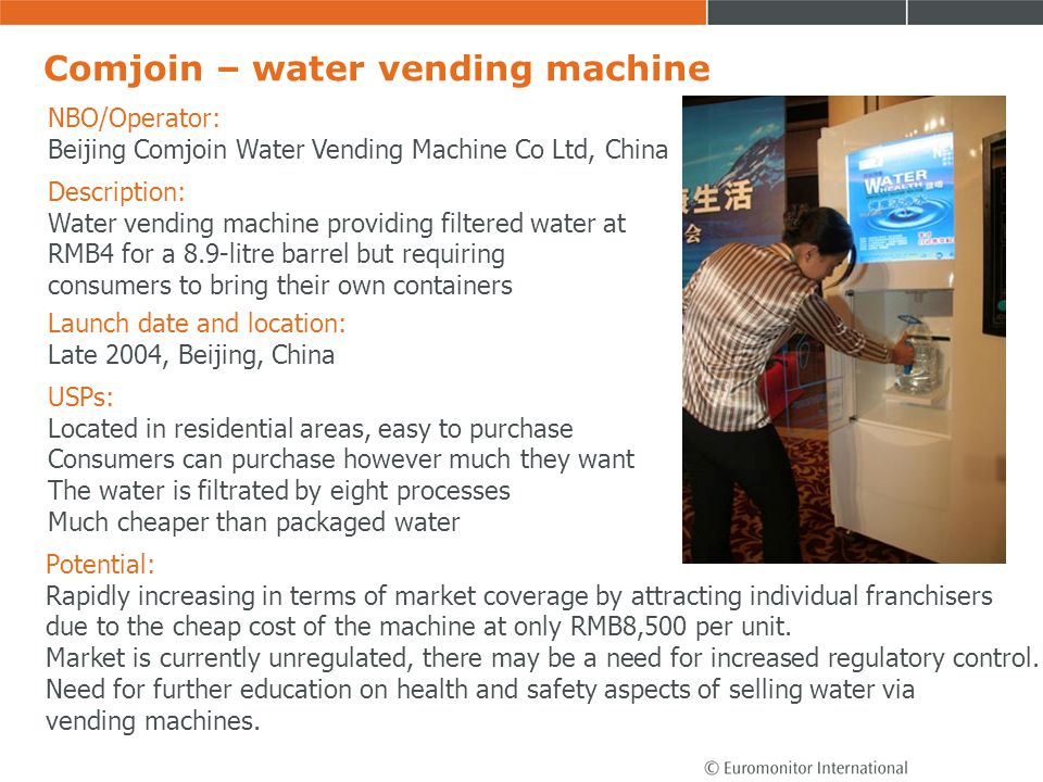 Comjoin – water vending machine
