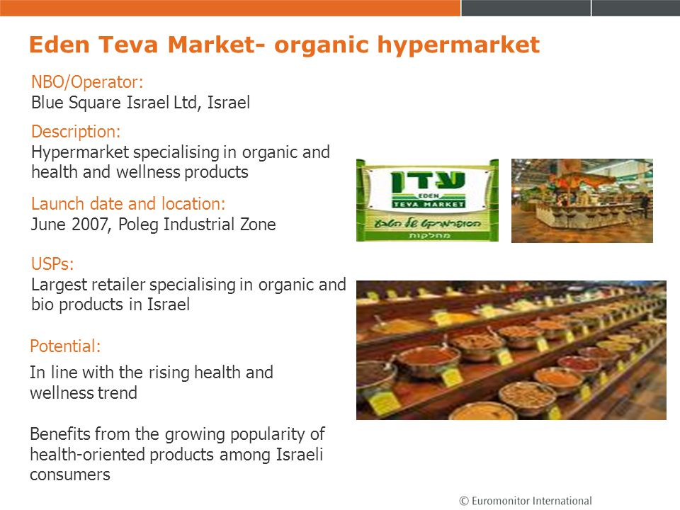 Eden Teva Market- organic hypermarket