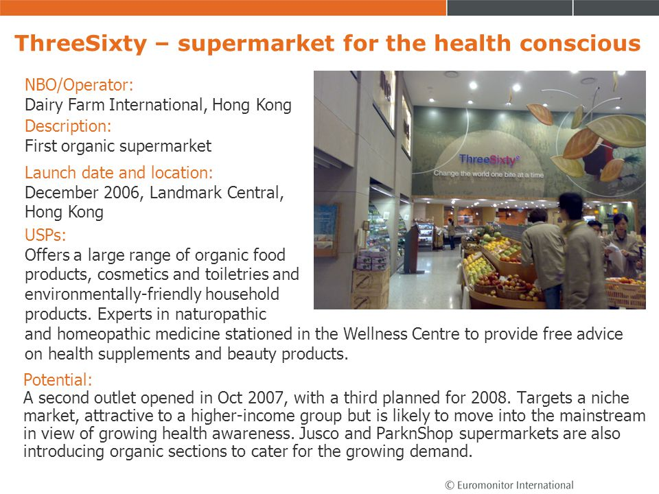 ThreeSixty – supermarket for the health conscious