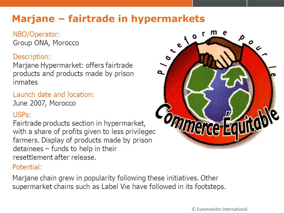 Marjane – fairtrade in hypermarkets