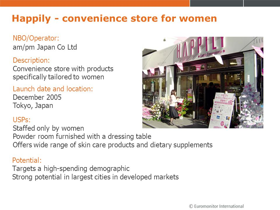 Happily - convenience store for women
