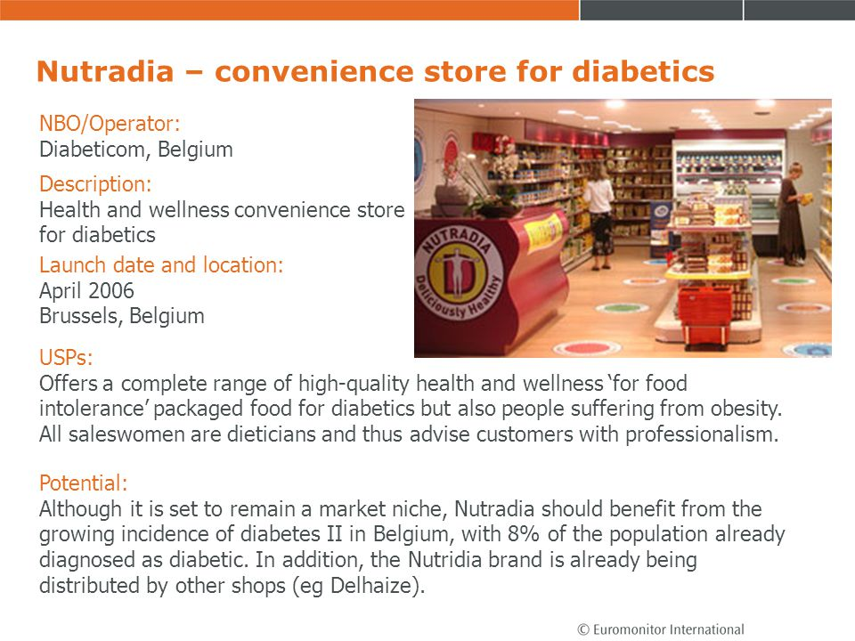 Nutradia – convenience store for diabetics