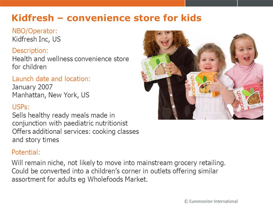 Kidfresh – convenience store for kids