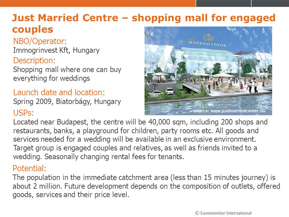 Just Married Centre – shopping mall for engaged couples