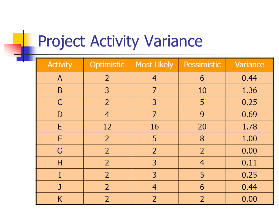 Project Activity Variance