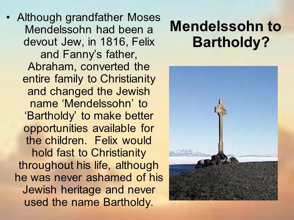 Mendelssohn to Bartholdy