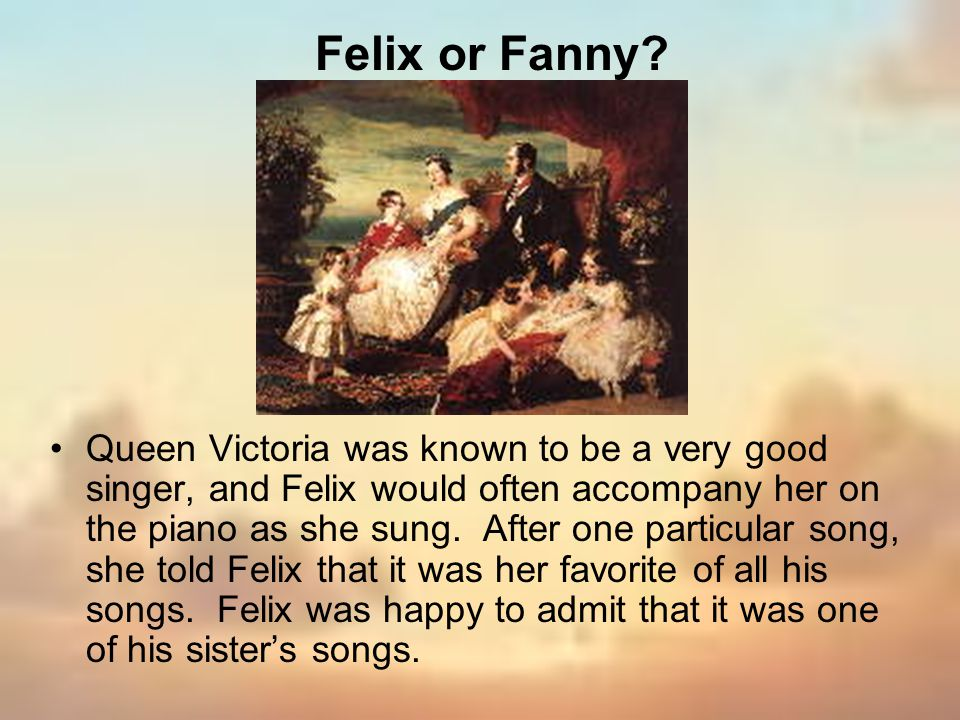 Felix or Fanny