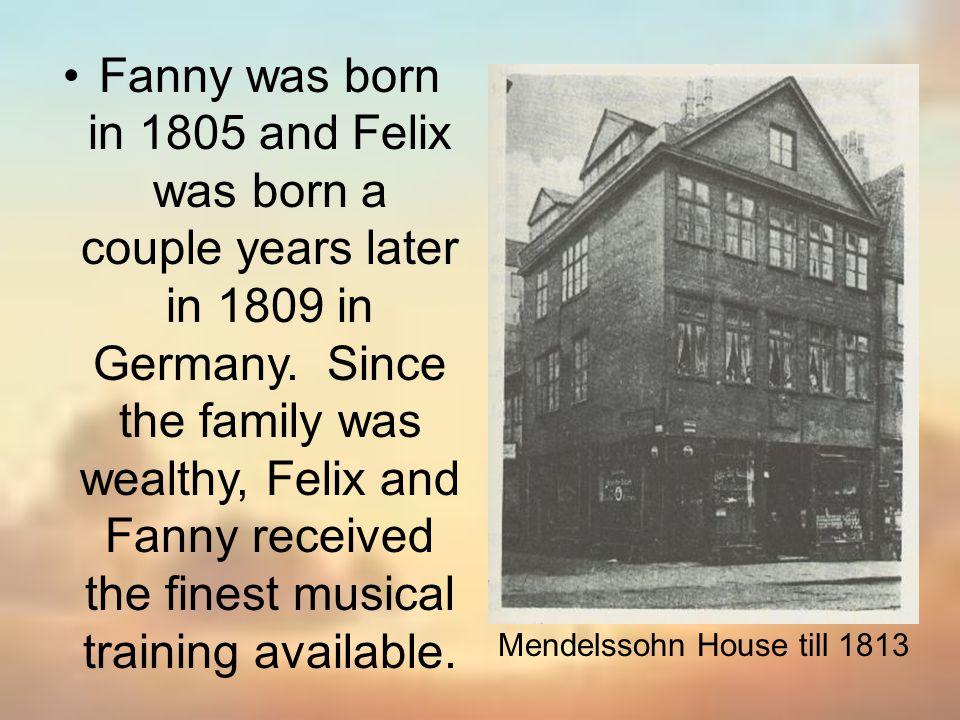 Mendelssohn House till 1813