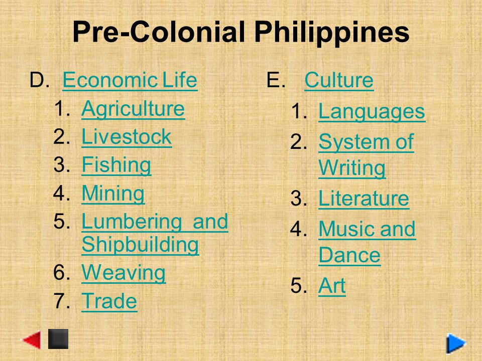 philippines during pre colonial period The philippines during the pre colonial period 1 the philippines during the pre- colonial period 2 peopling of the philippines 'land bridge'.