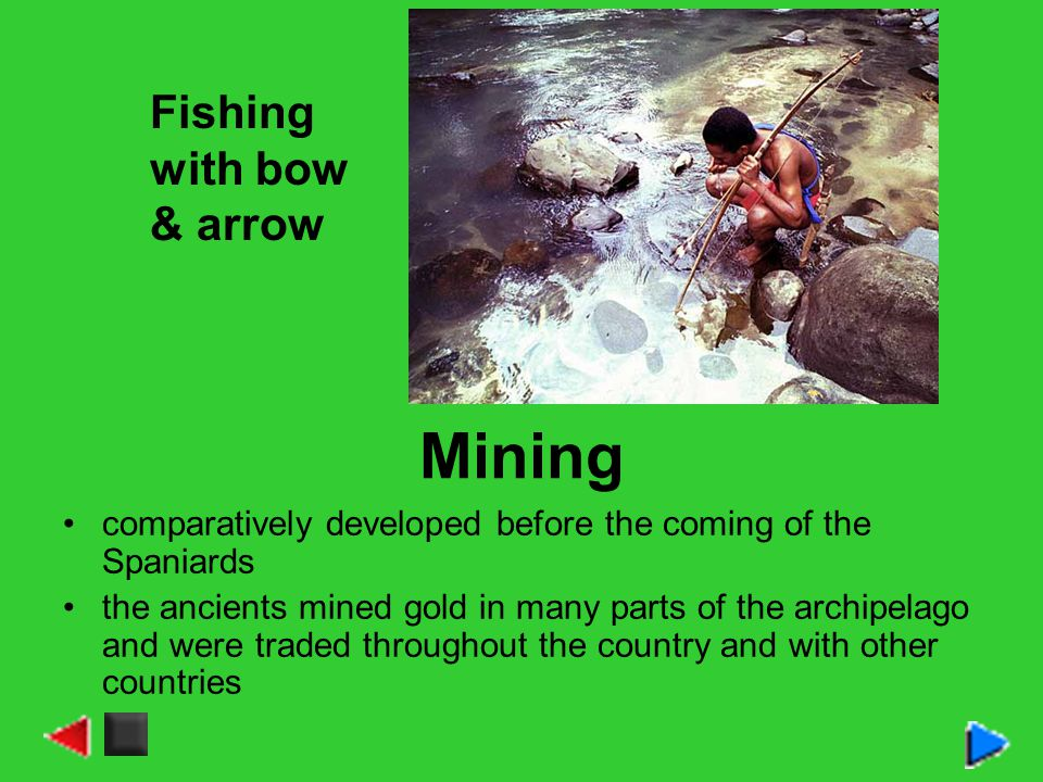 Mining Fishing with bow & arrow