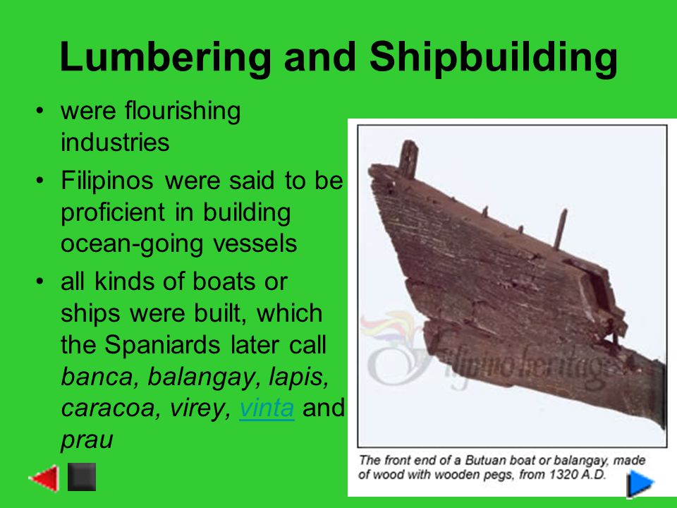 Lumbering and Shipbuilding