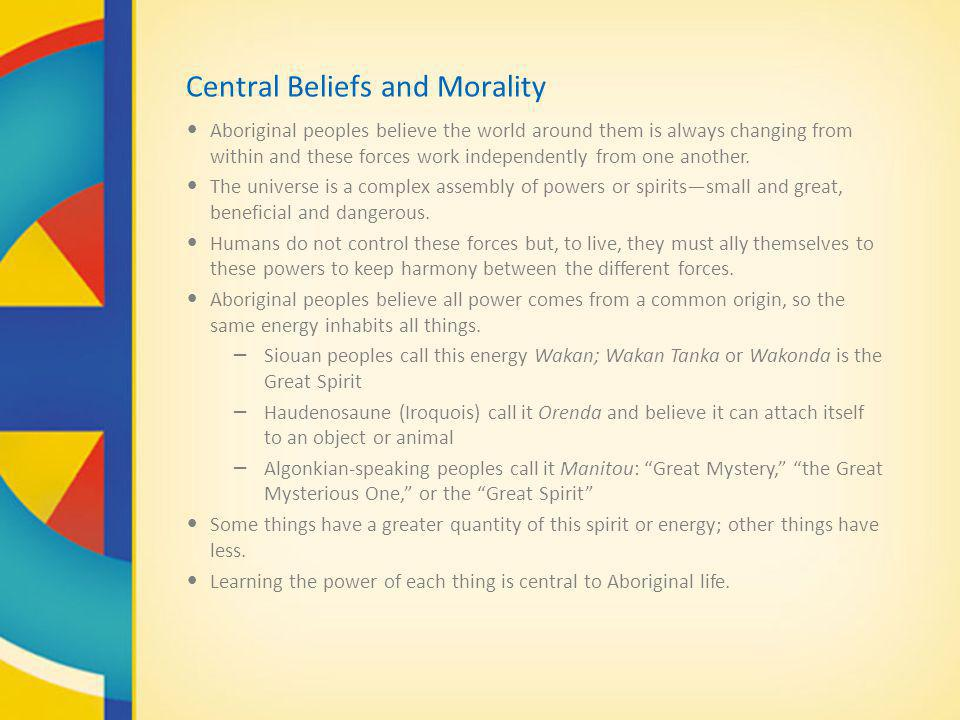 Central Beliefs and Morality