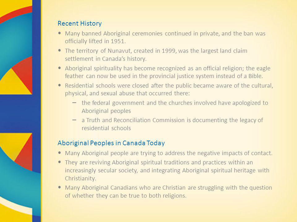 Aboriginal Peoples in Canada Today