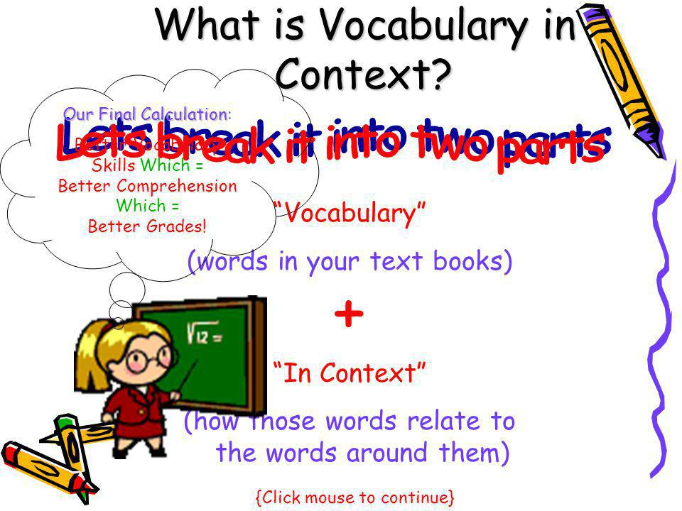 What is Vocabulary in Context