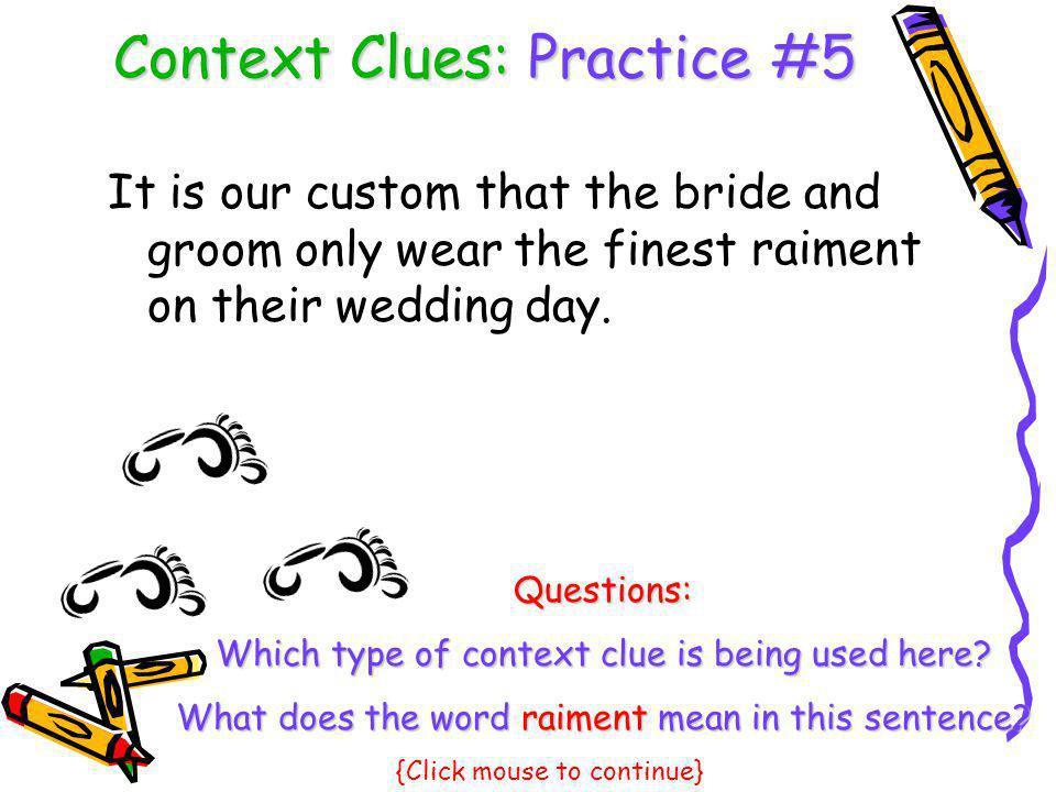 Context Clues: Practice #5