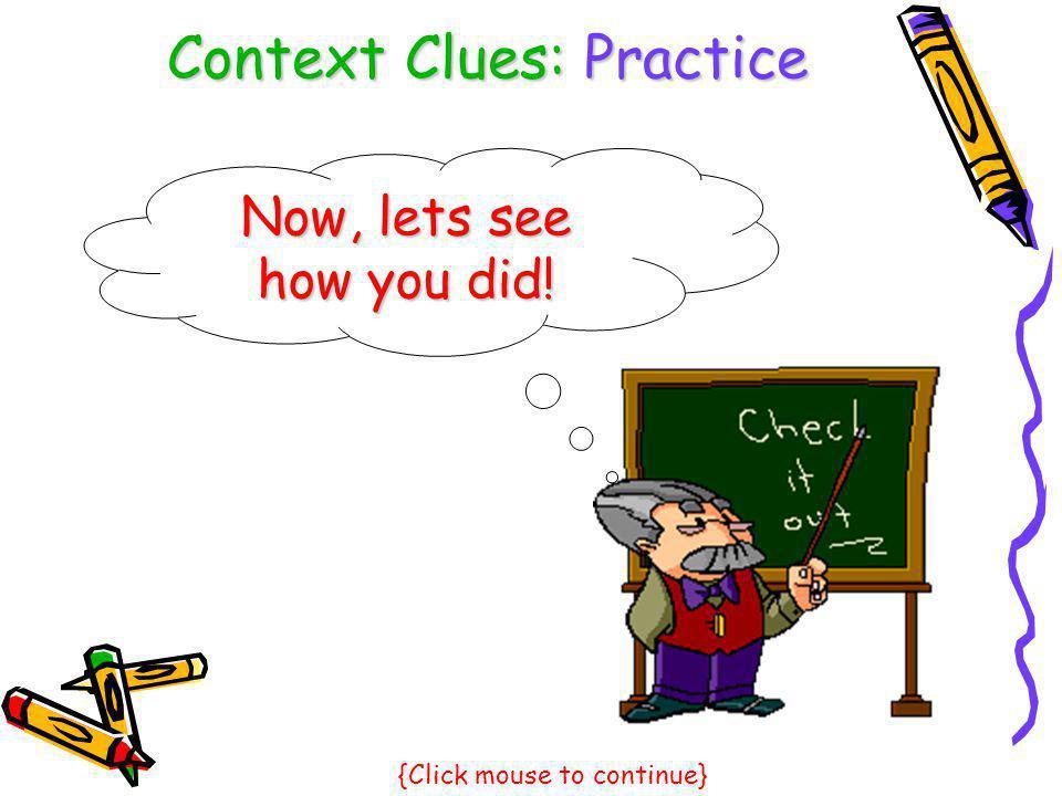 Context Clues: Practice