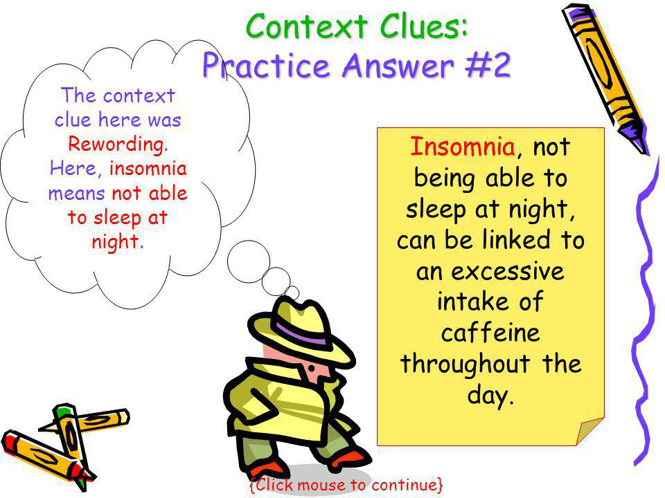 Context Clues: Practice Answer #2