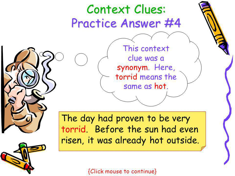 Context Clues: Practice Answer #4