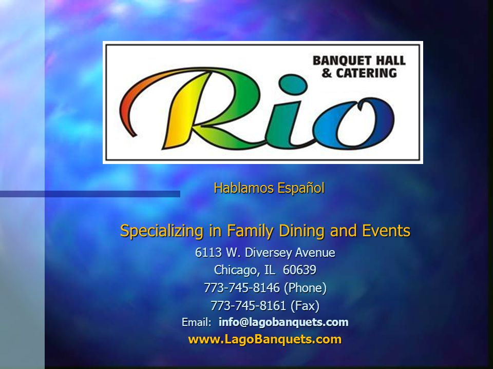 Specializing in Family Dining and Events