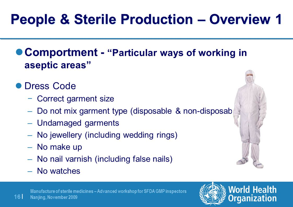 People & Sterile Production – Overview 1