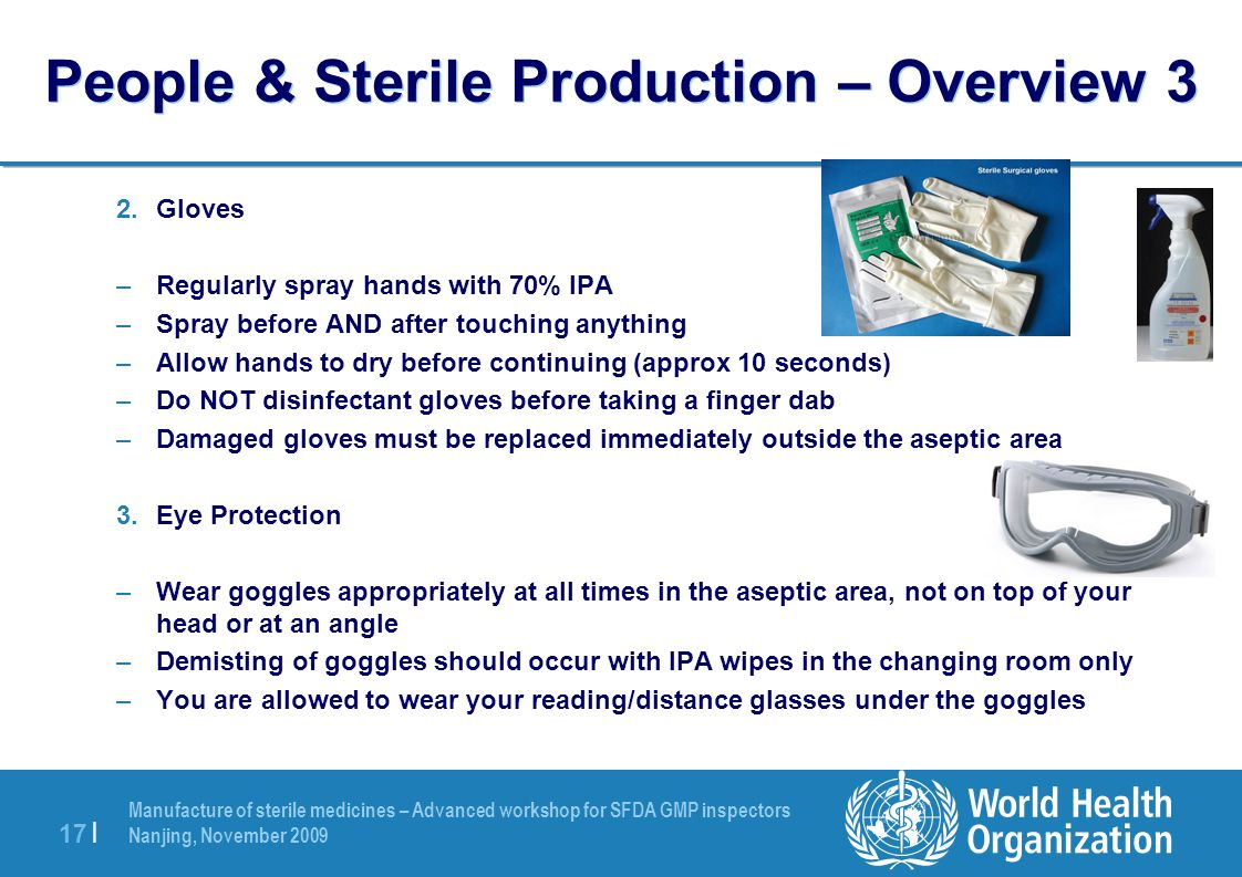 People & Sterile Production – Overview 3