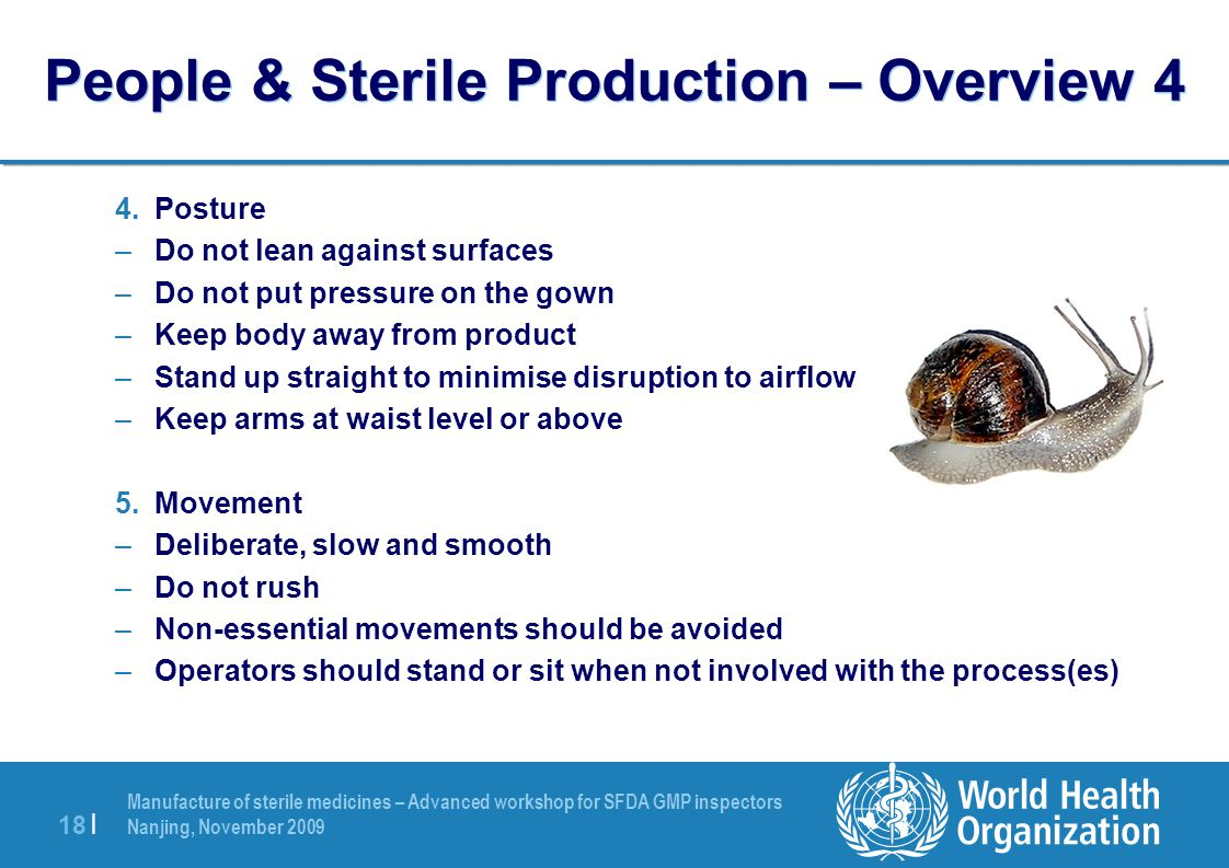 People & Sterile Production – Overview 4